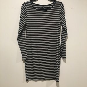 Wild fable black and white stripped dress